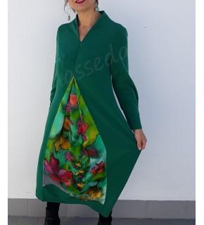 Vestido Flores en Verde